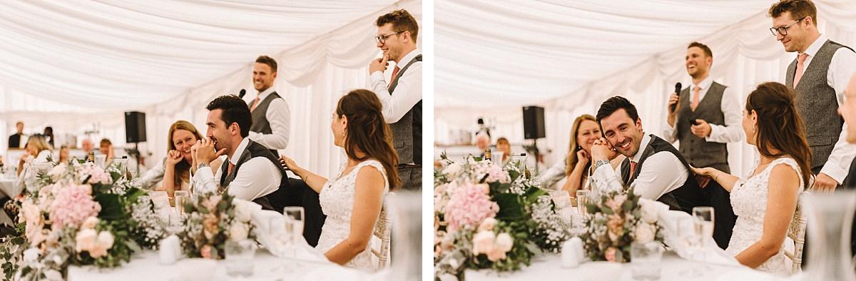 colour photo of wedding speeches