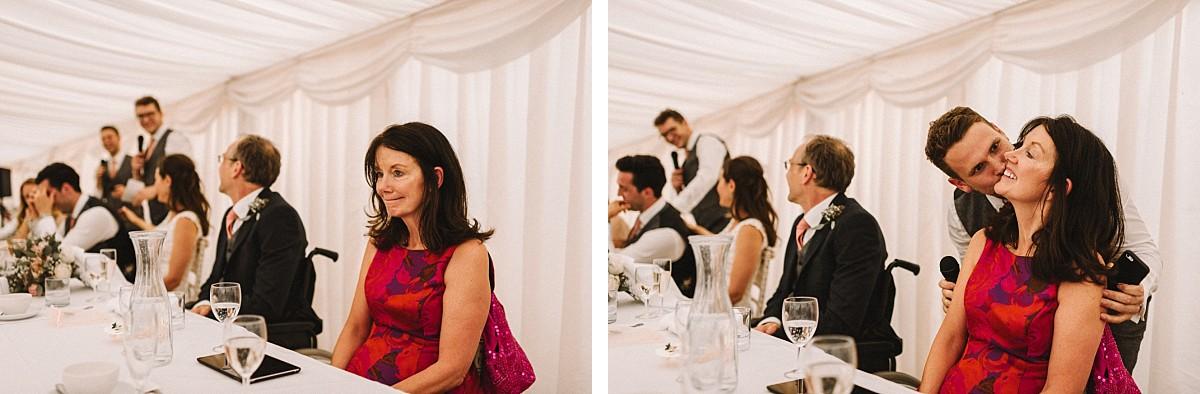 mother of groom at vineyard wedding