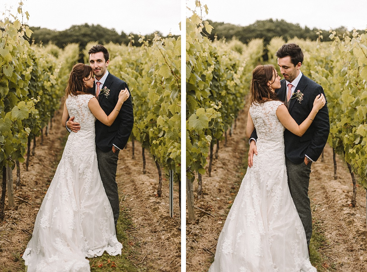 cool couple in vineyard
