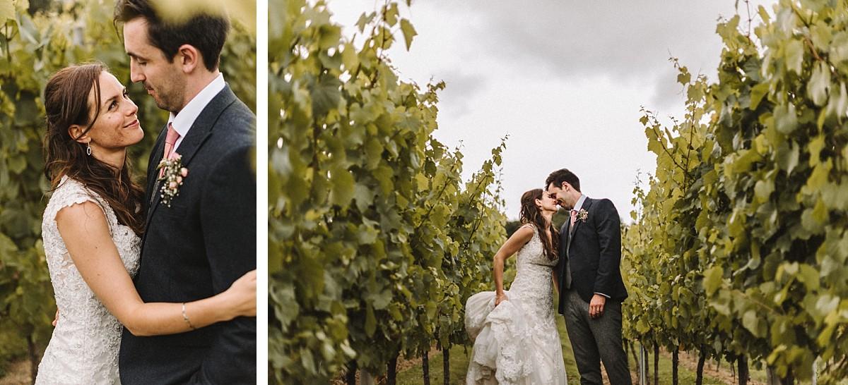 married couple in vineyard