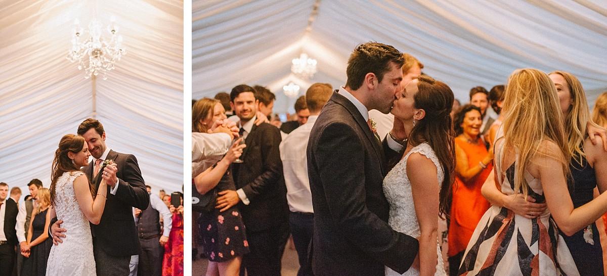 first dance at Bluebell Vineyard Wedding