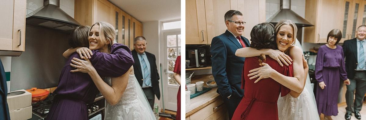 Wedding photography in morning of wedding