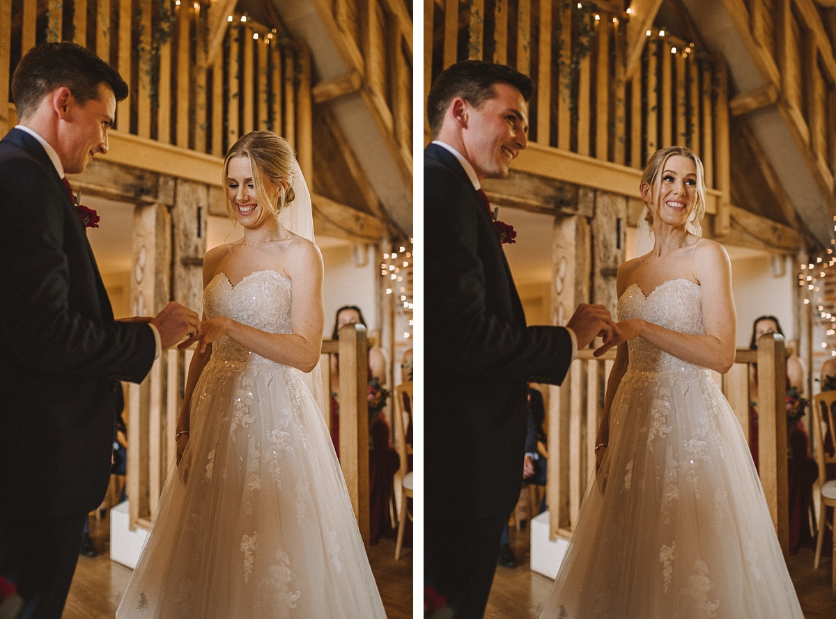 Wedding photography at Bury Court Barn