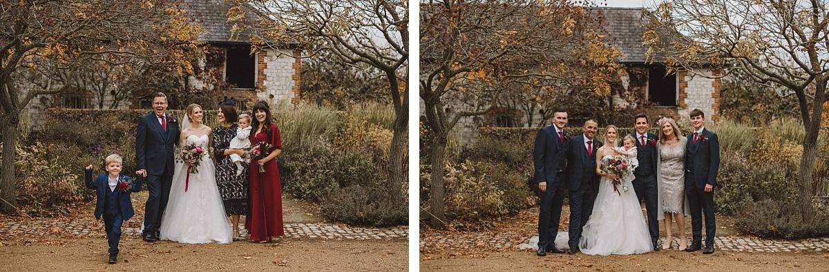 Traditional wedding photography at Bury Court Barn