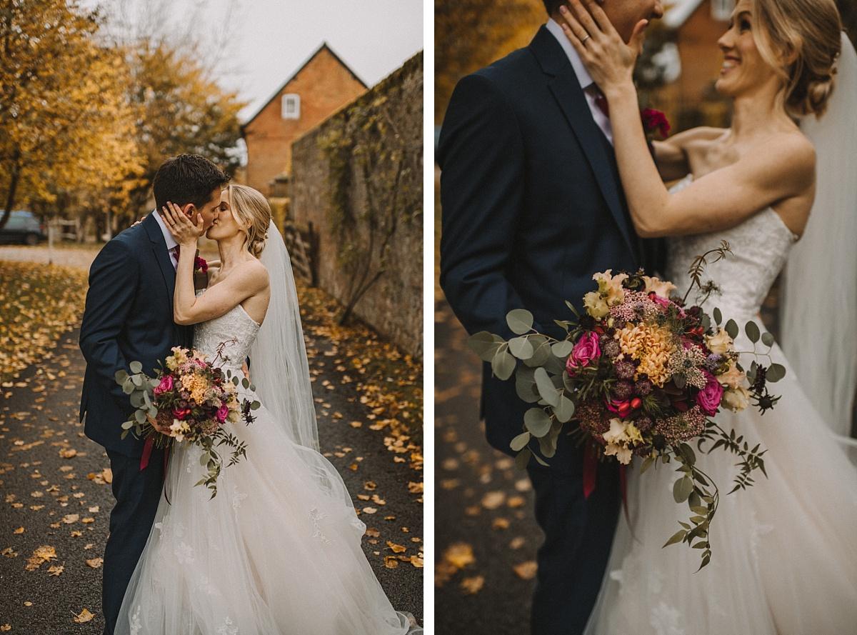 Photo of wedding bouquet at Bury Court Barn