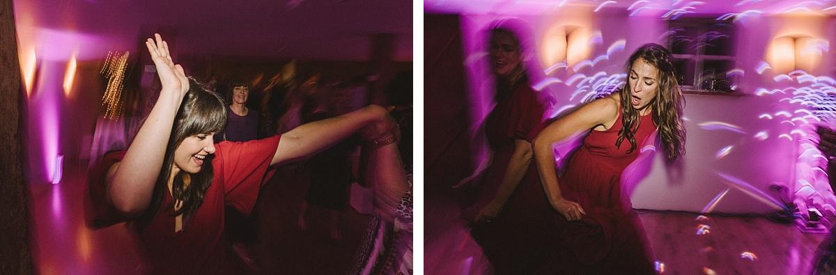 Photography of dance floor at Bury Court Barn