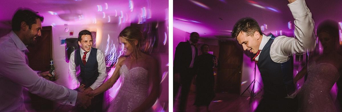 Photo of bride & groom dancing at Bury Court Barn