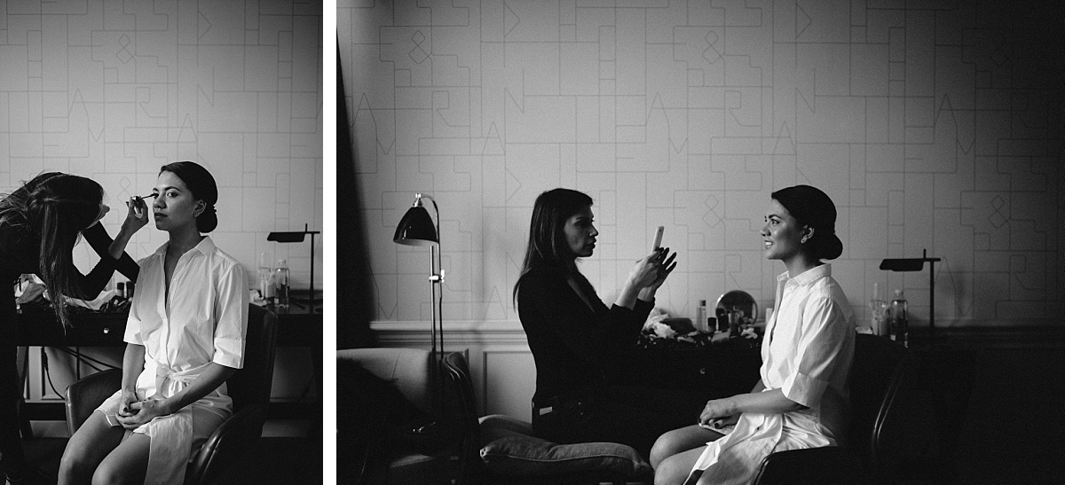 Cool photo of Bride getting ready by Chelsea Wedding Photographer, Matt Lee