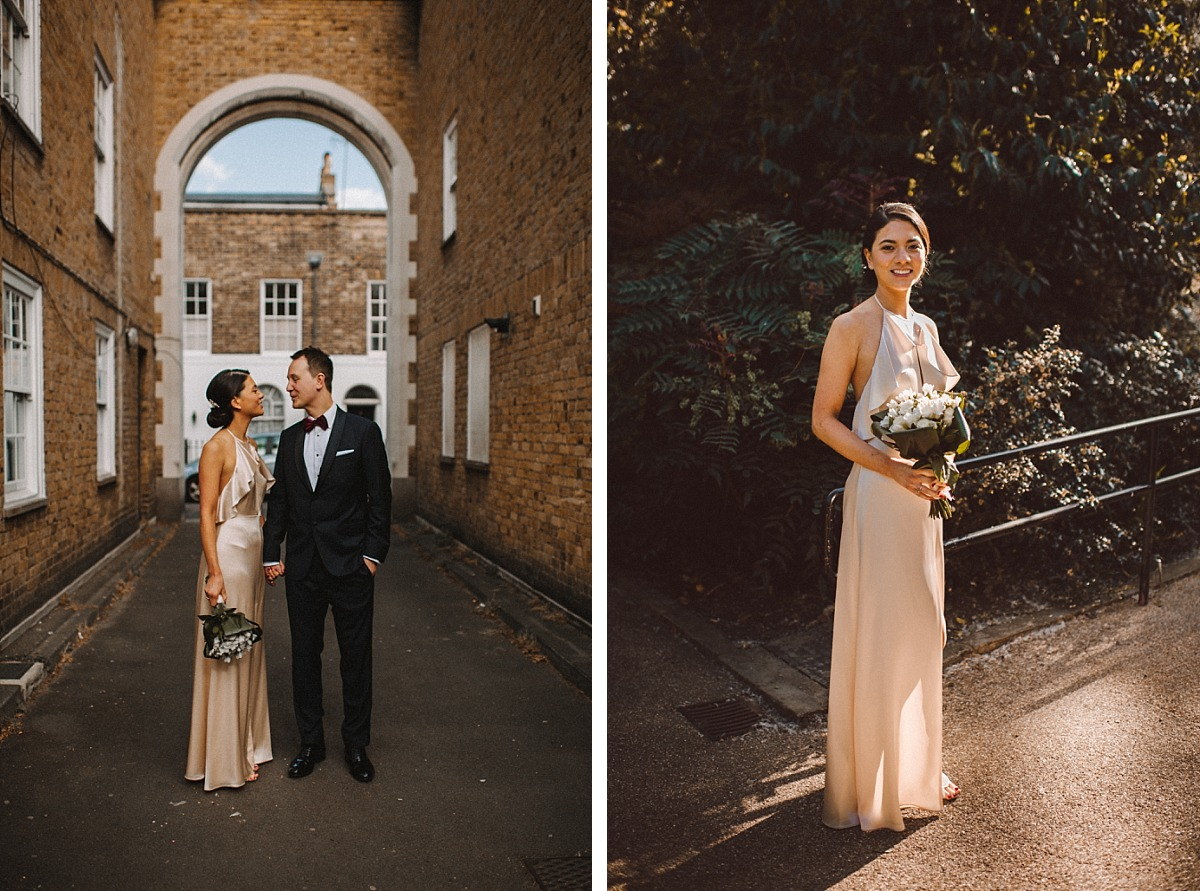 Stylish wedding dress worn by Bride in London