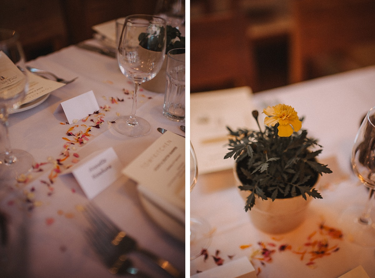 Photo of table details at Tom'sKitchen in Chelsea