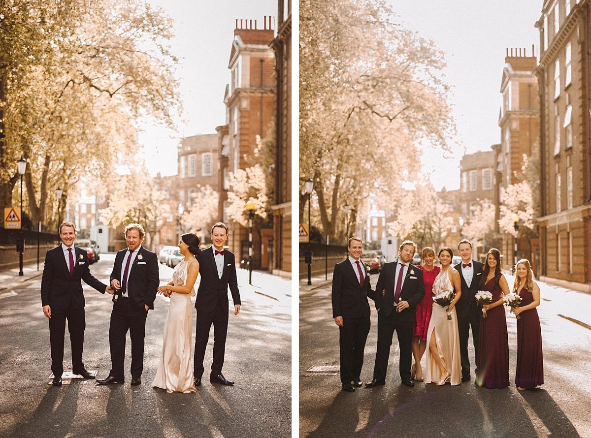Photo of wedding party by Matt Lee, Chelsea Wedding Photographer