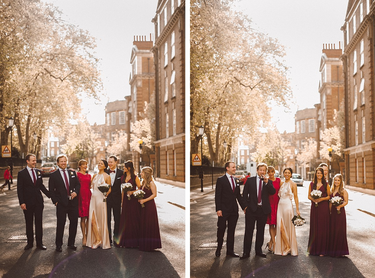 Wedding photo of wedding party in a Chelsea Street
