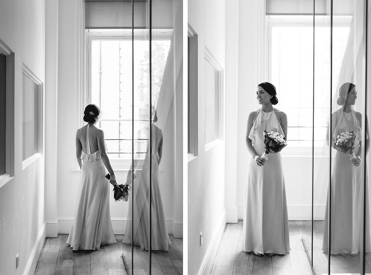 Portrait of stylish Bride on wedding day