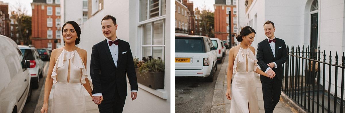 Chelsea Wedding Photographer Matt Lee shoots newly married couple