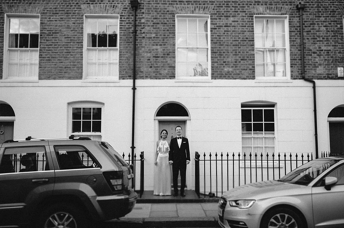 Black & White photo of a couple in Chelsea street