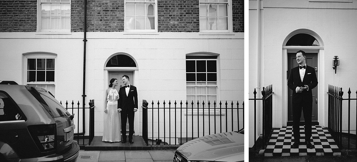 Black & White photo of couple in Chelsea