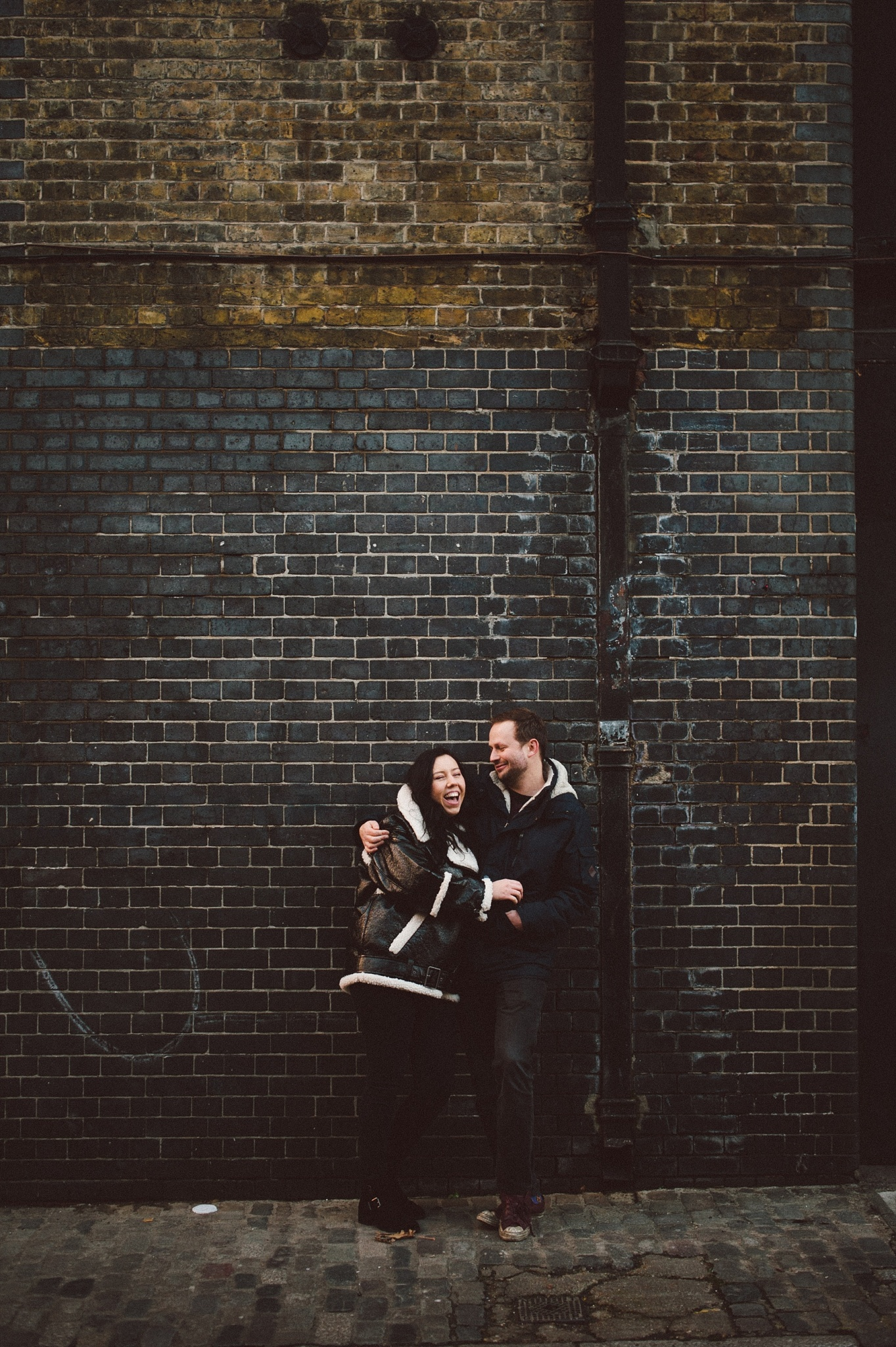 Couple having photo shoot in London