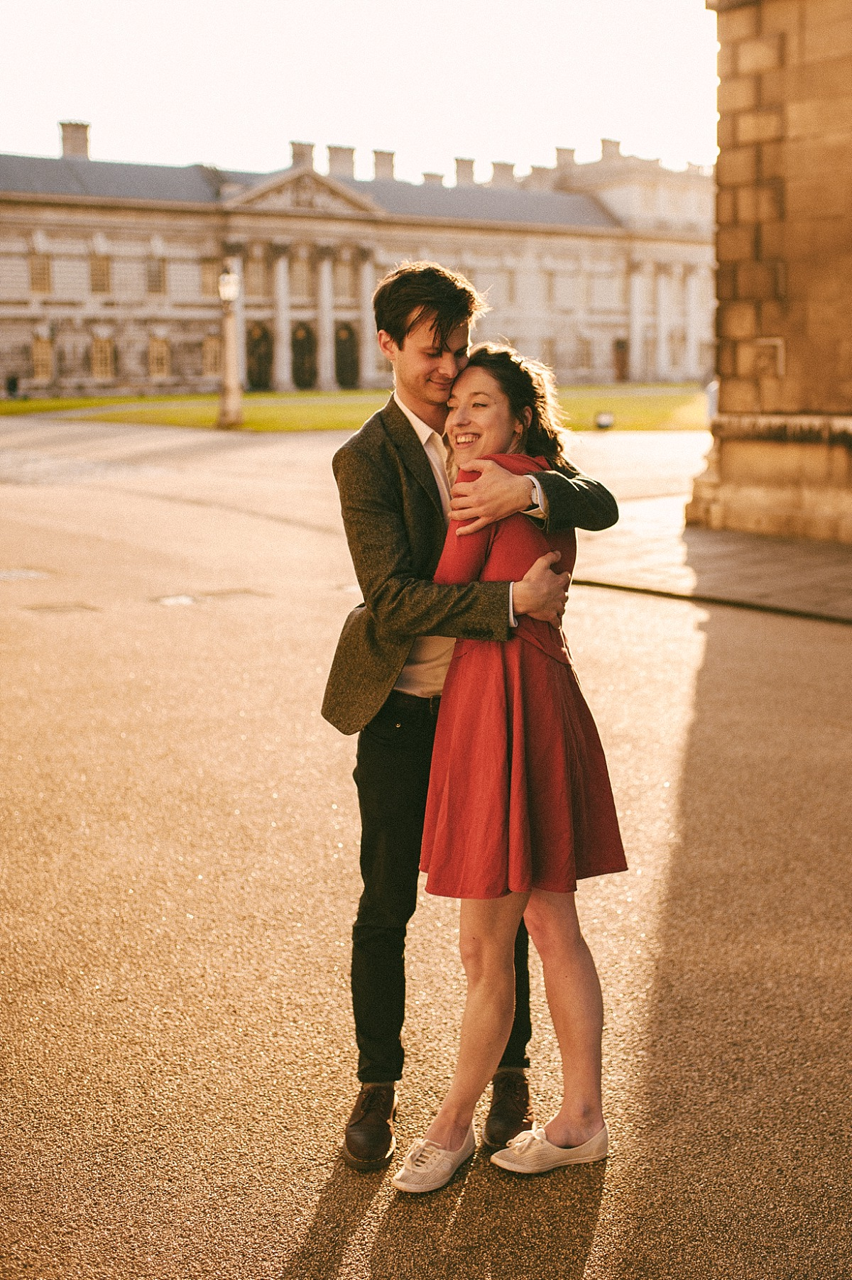 Photograph of couple in evening sun in Greenwich
