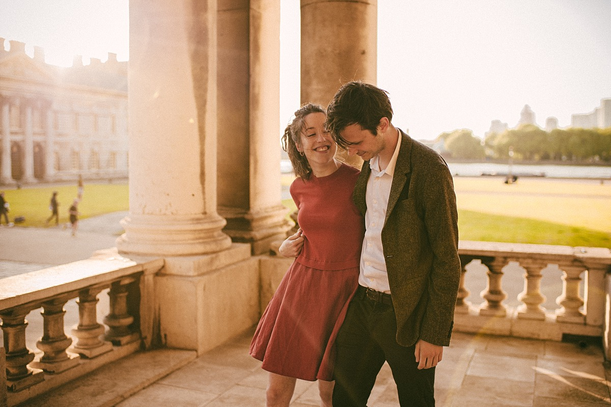 Photo of couple in love by Greenwich wedding photographer