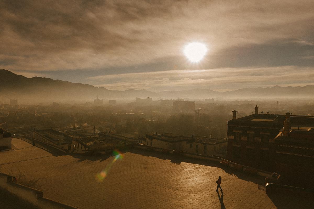 View across Lhasa in Tibet