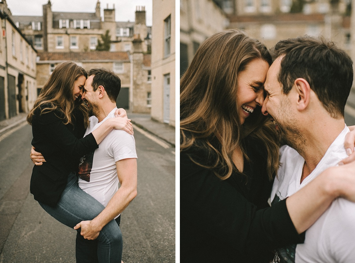 2 photos of couple by Photographer in Bath, Matt Lee