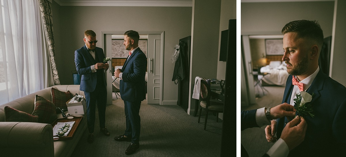 Photo of groomsmen in Blue suits, Reading Wedding Photographer