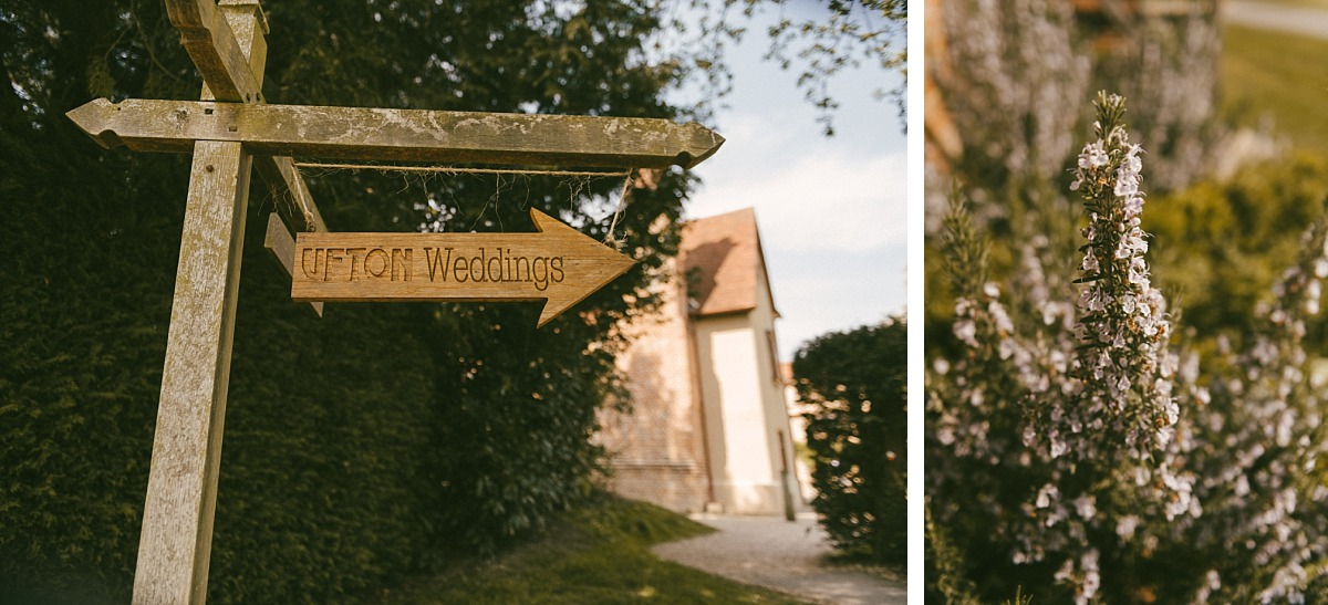 Photo of a sign of Ufton Court wedding venue