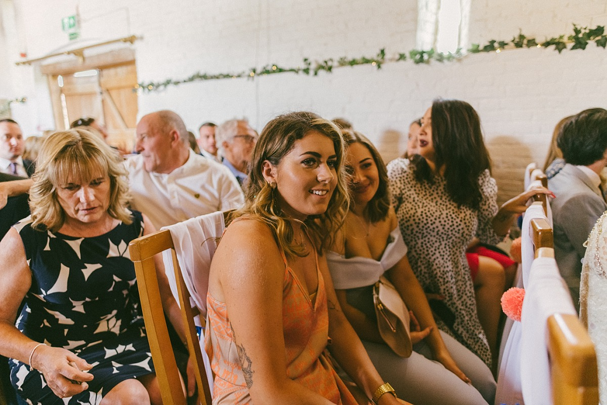 Photo of young wedding guests at Ufton Court in Reading