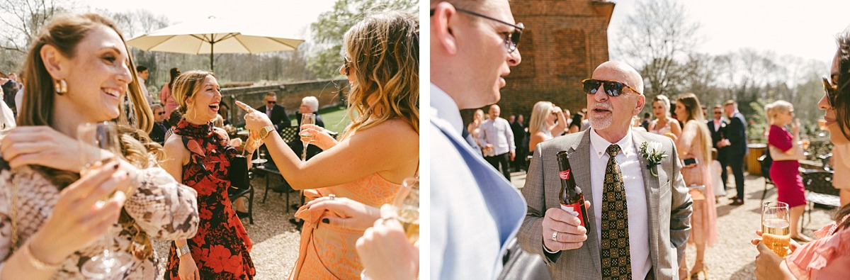 Groom thanking guests for coming to wedding