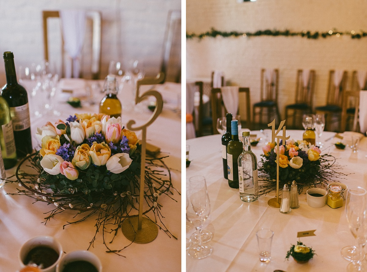Photo of flower center pieces at Ufton Court