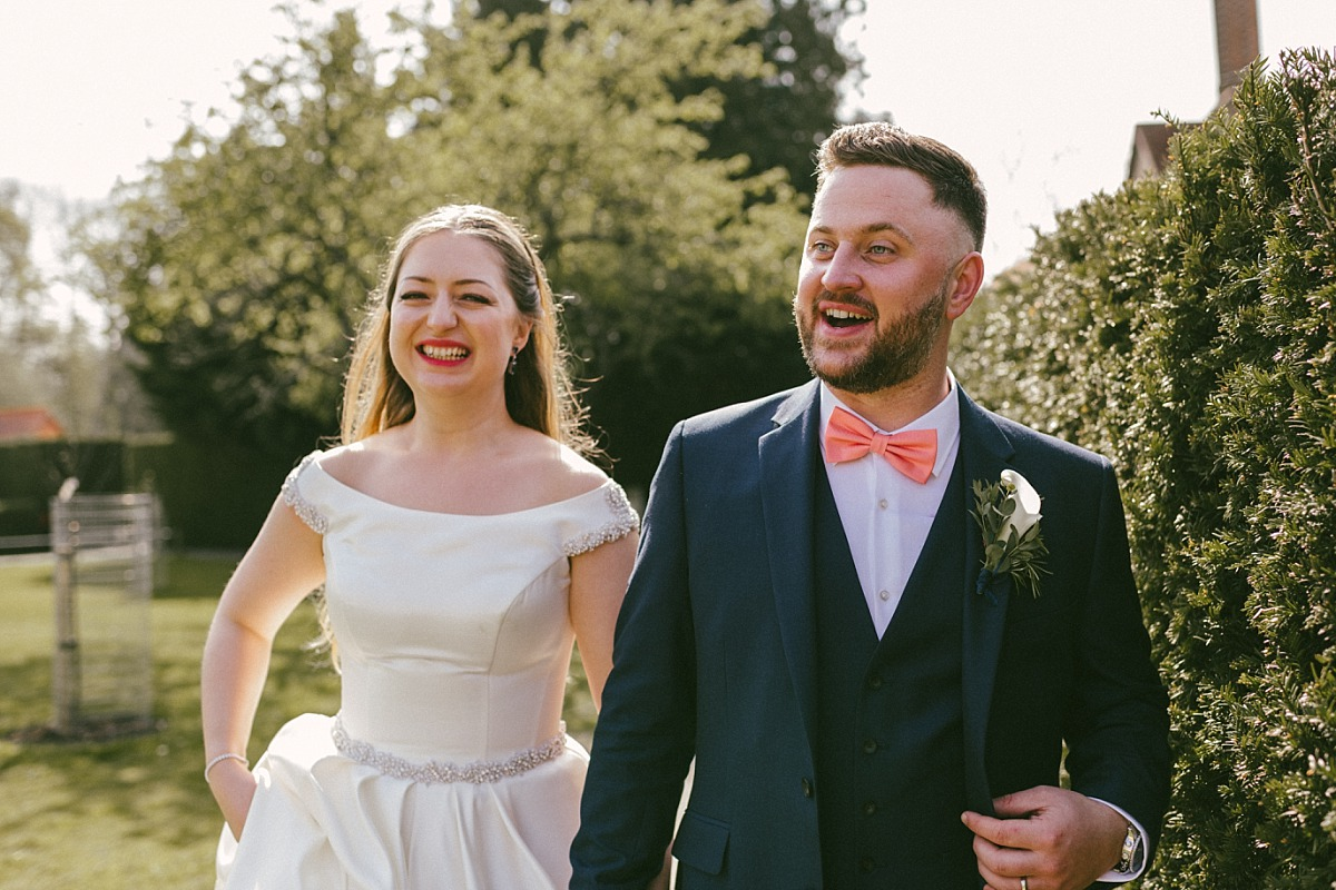 Happy Bride & Groom by Reading wedding photographer, Matt Lee
