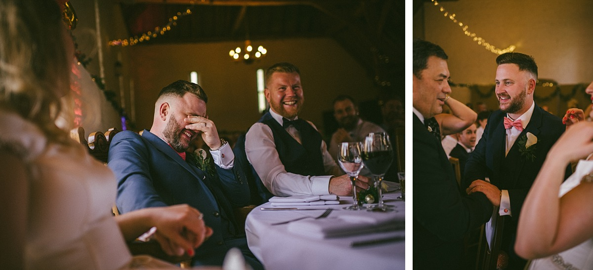 Embarrased Groom covering face with hands