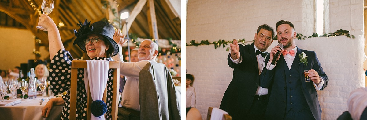 Best man giving speech at Ufton Court, by Reading wedding photographer