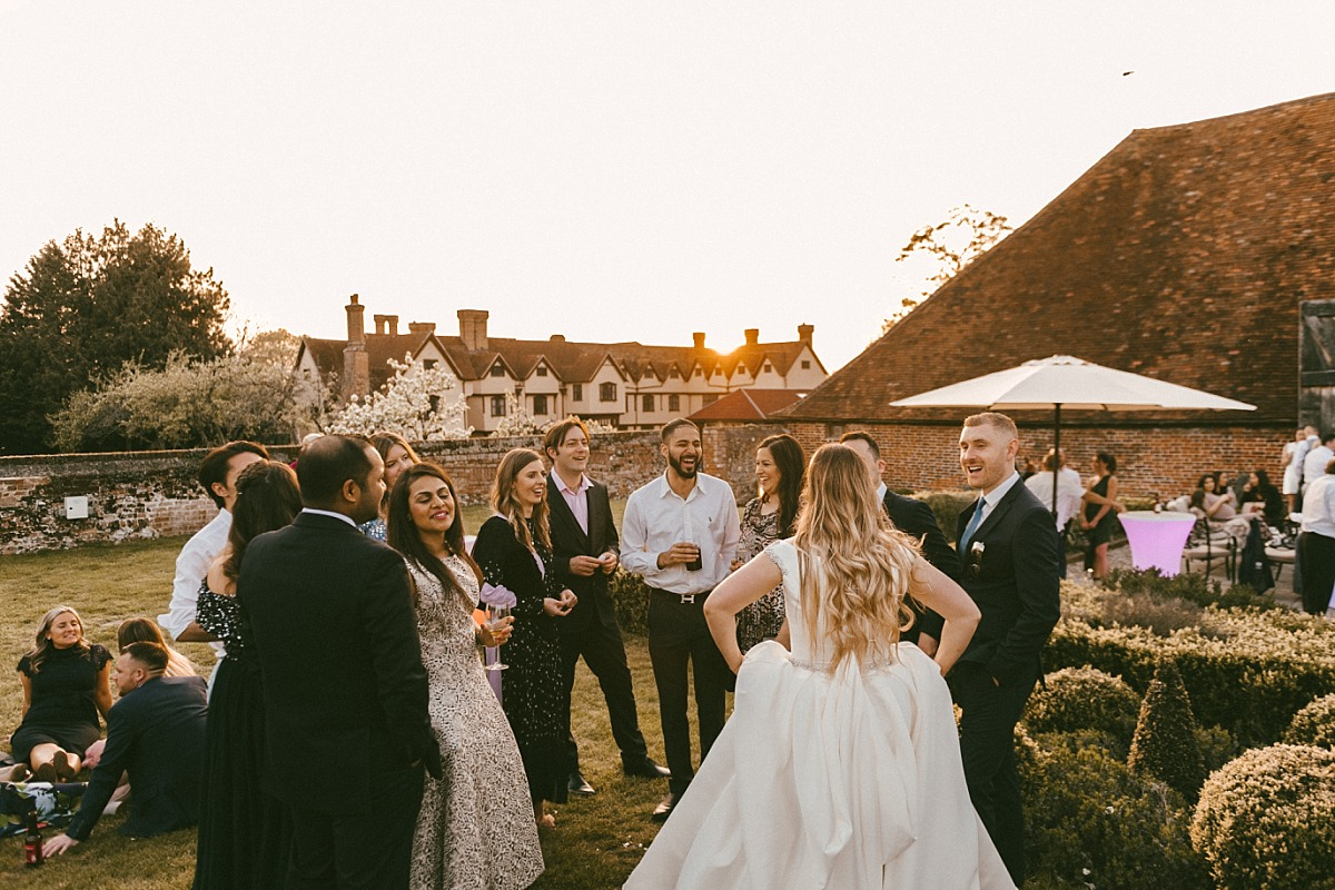 Guests in the evening at Ufton Court in Reading