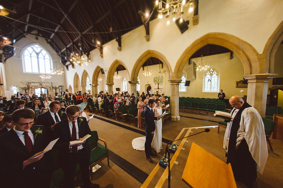 wideangle photo of wedding ceremony