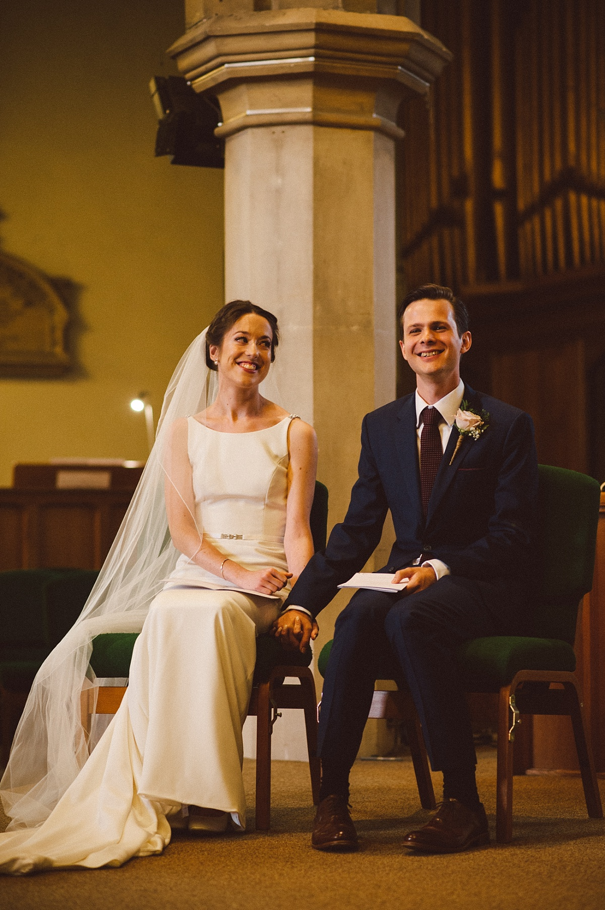 couple on their wedding day at Rownhams House