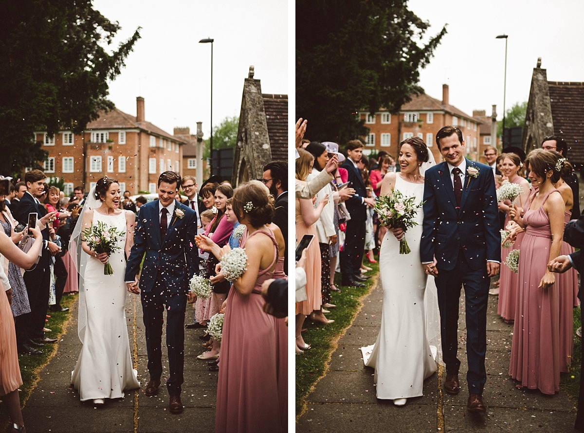 colour photo of wedding day at Rownhams House