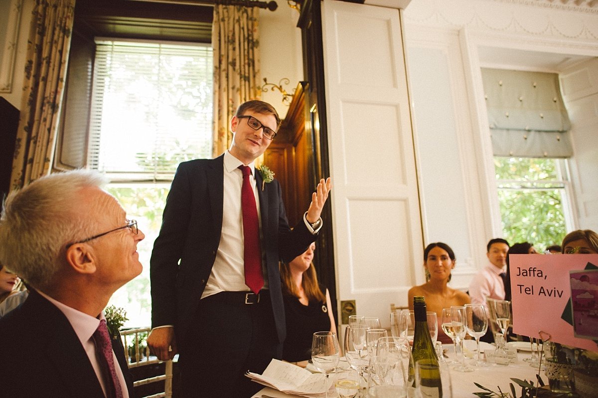 best man giving speech at Rownhams House