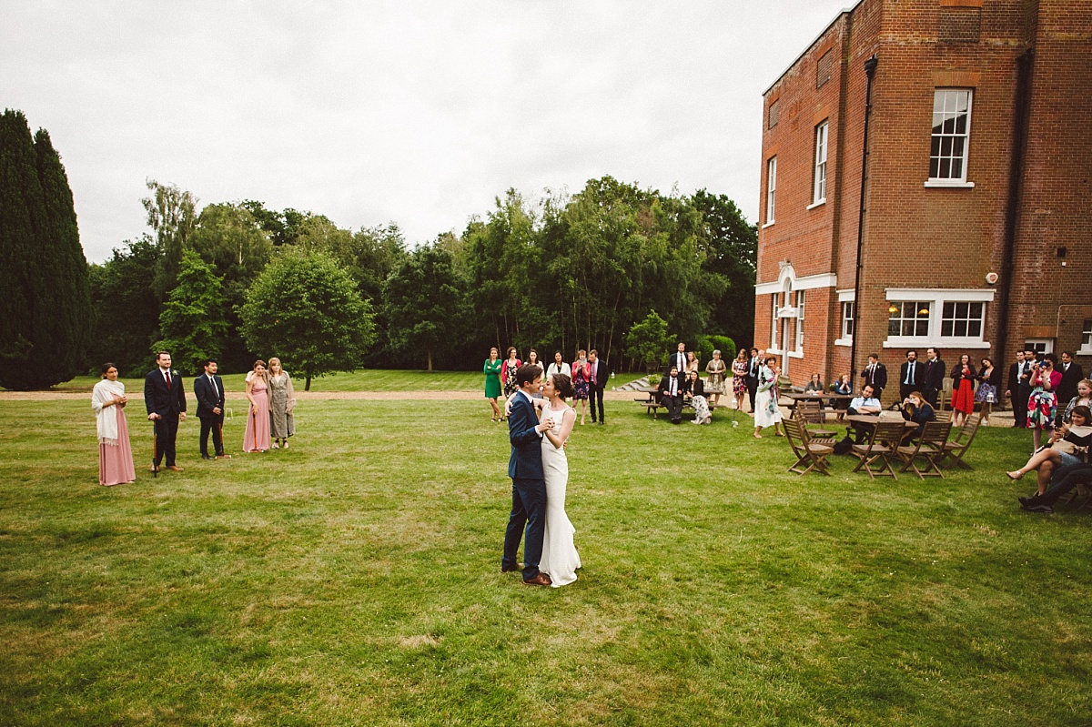colour photo of first dance at Rownhams House