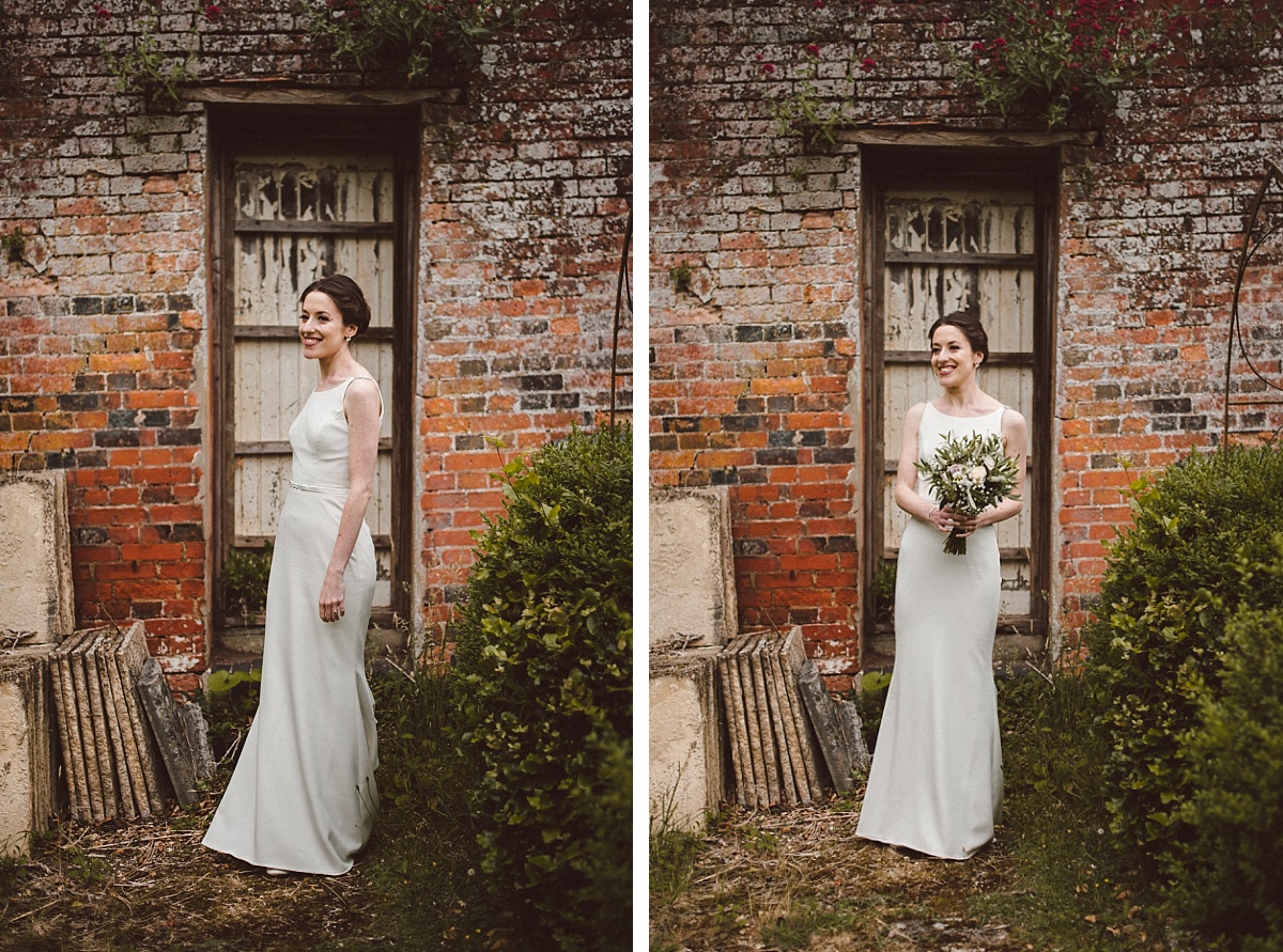 cool bride at Rownhams House