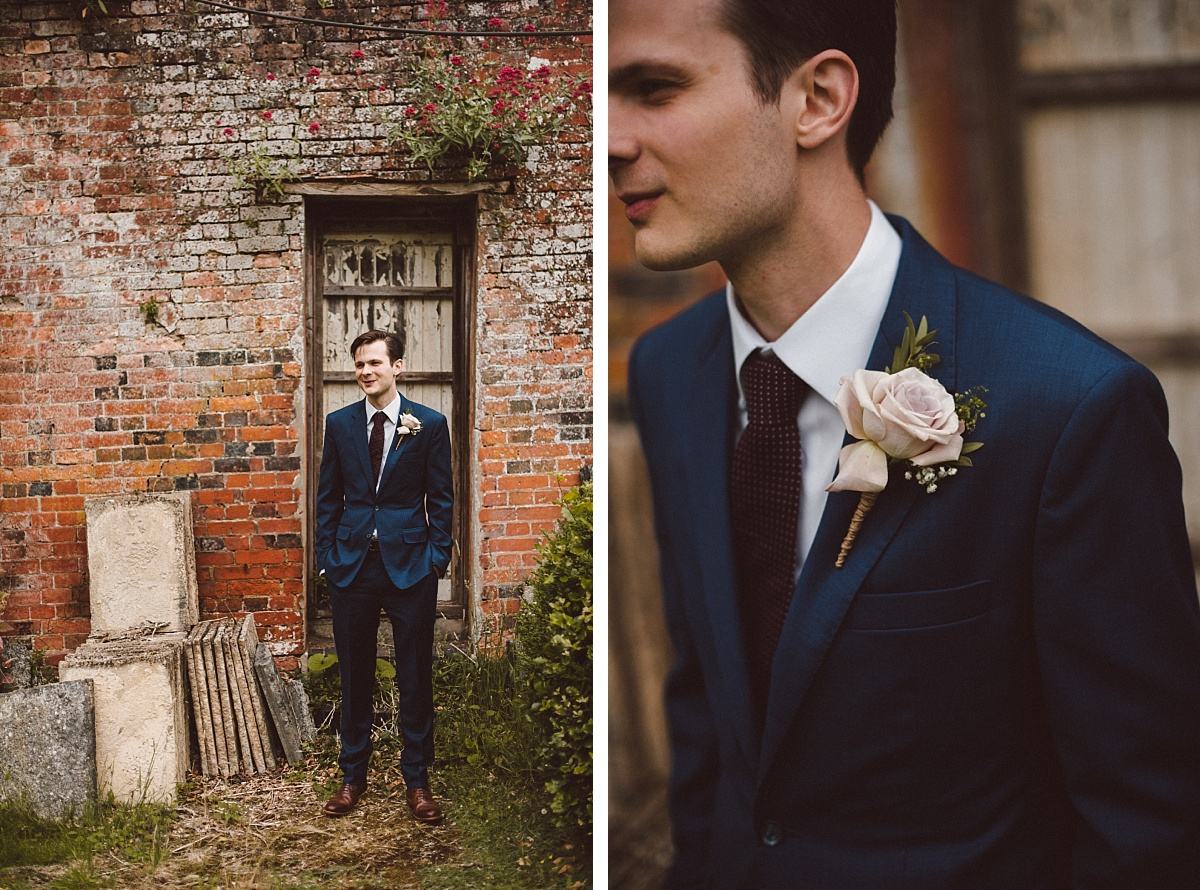 cool groom at Rownhams House