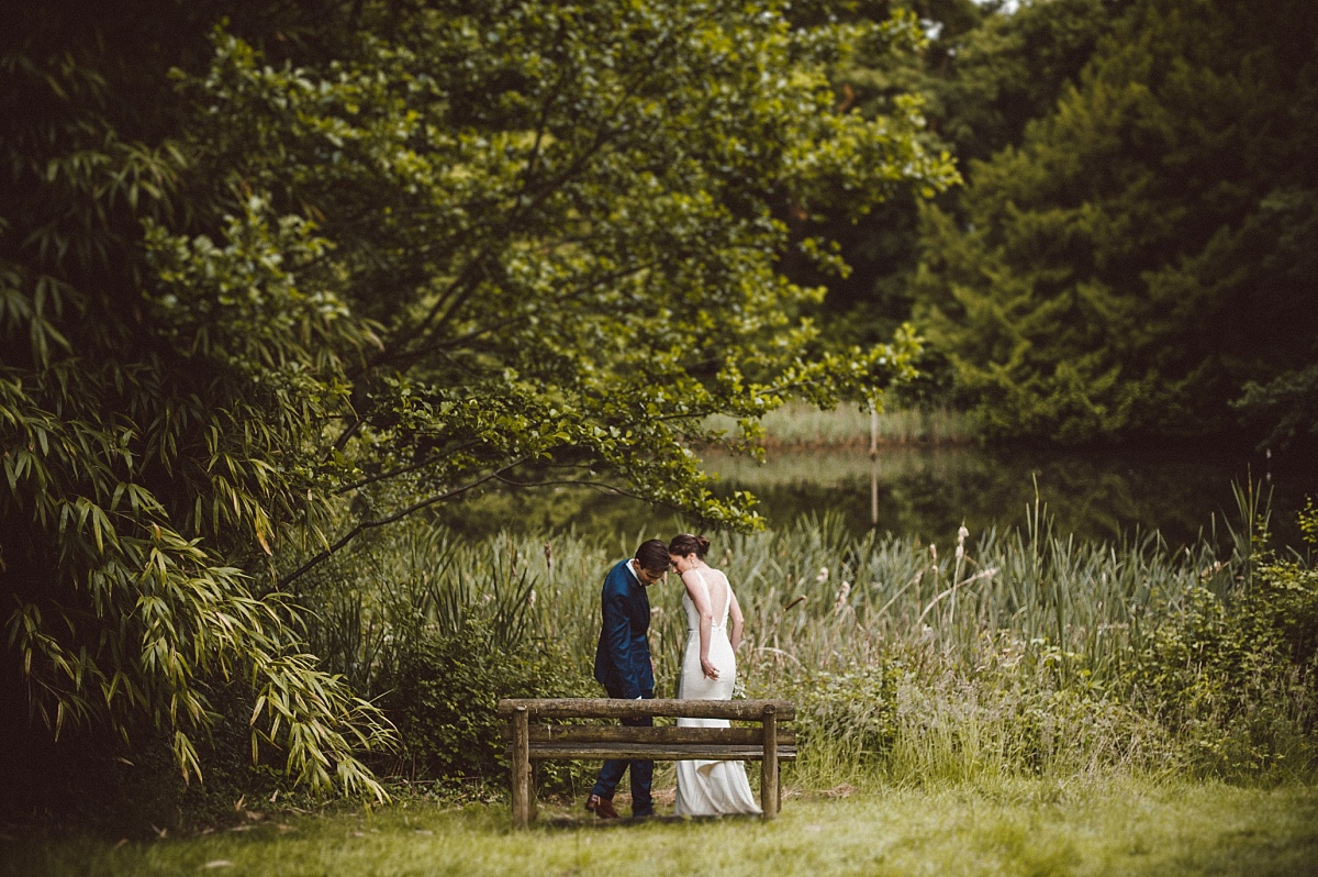 photo of couple on their wedding day at Rownhams House