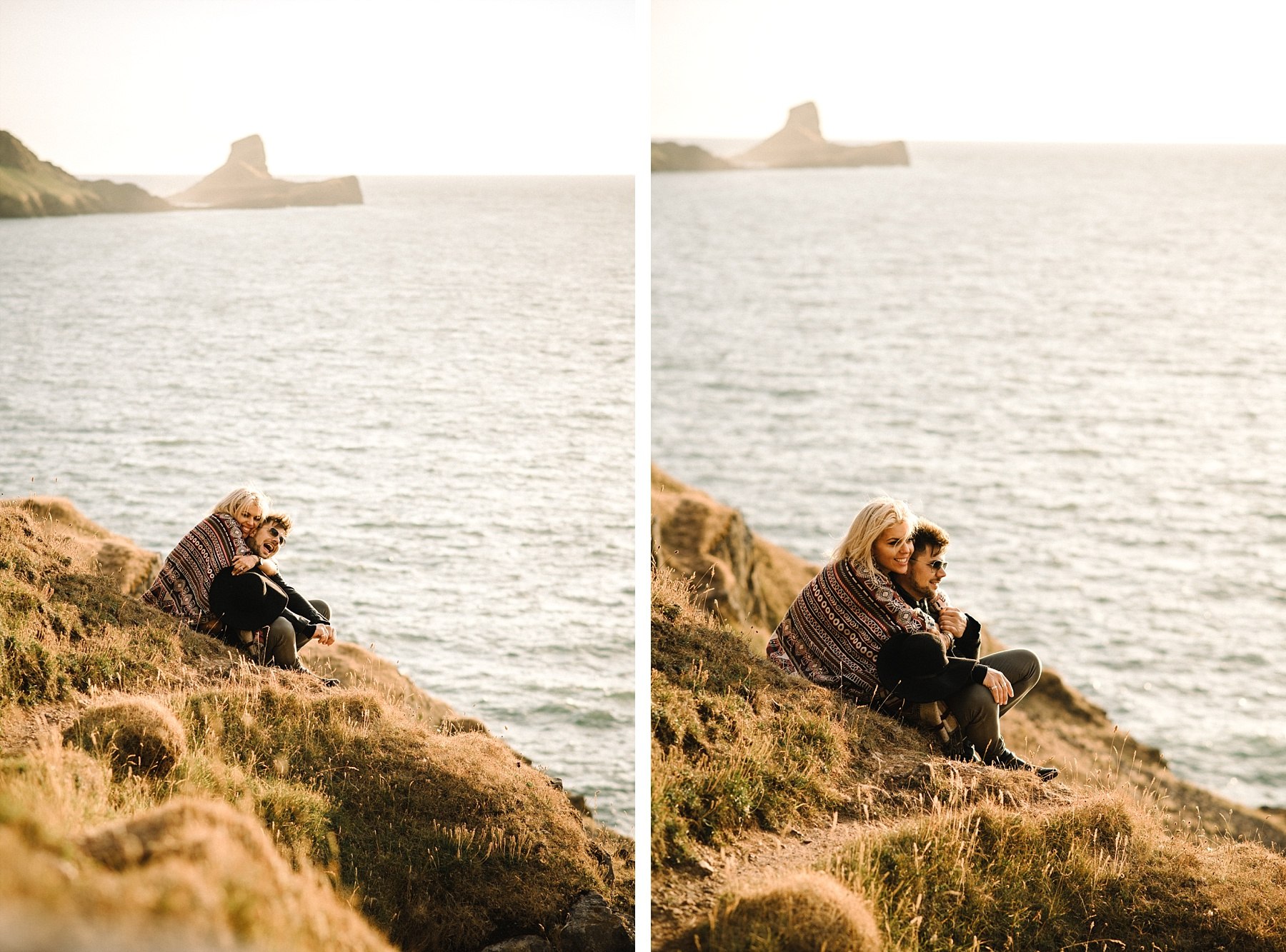 Example of cool engagement photo