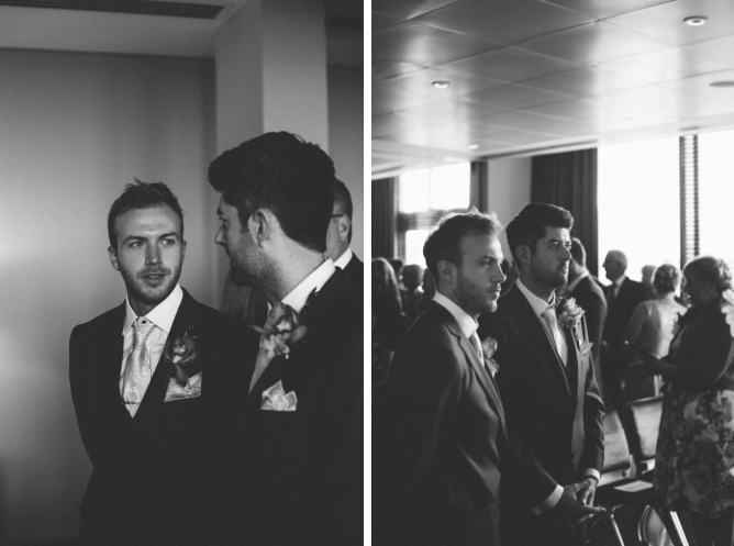 Groom & Bestman chat beofre wedding ceremony