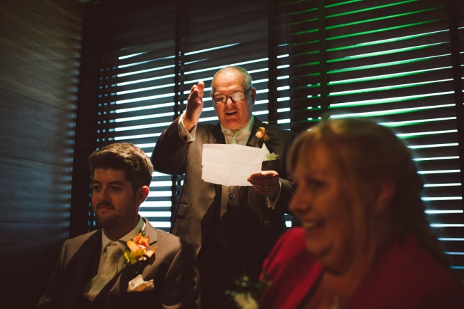Wedding speeches at The Aviator Farnborough