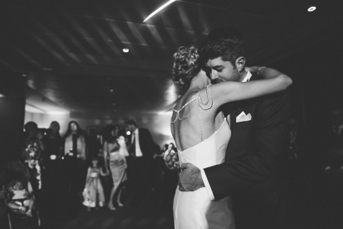 Bride & Groom first dance at The Aviator Farnborough