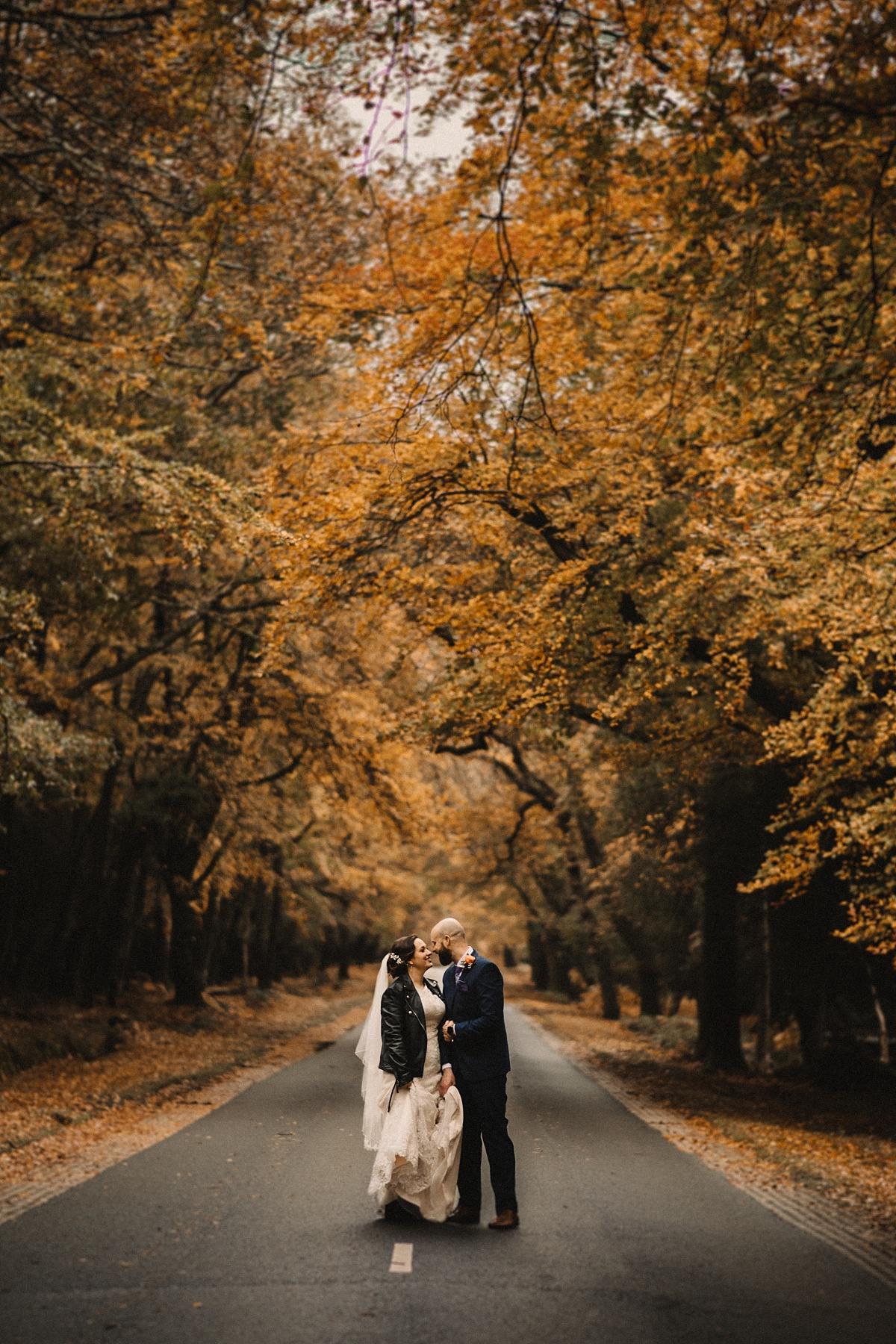 pictures of couple with coloured trees