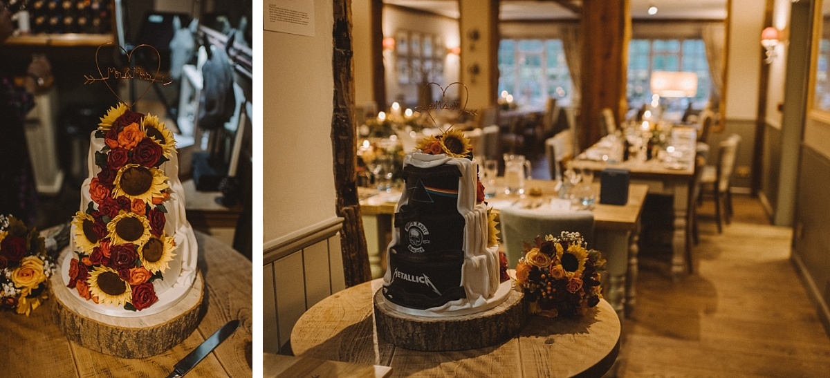wedding cake at The Bell Inn