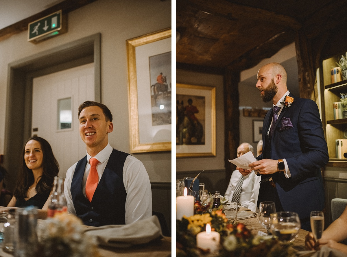 wedding speeches at The Bell Inn New Forest