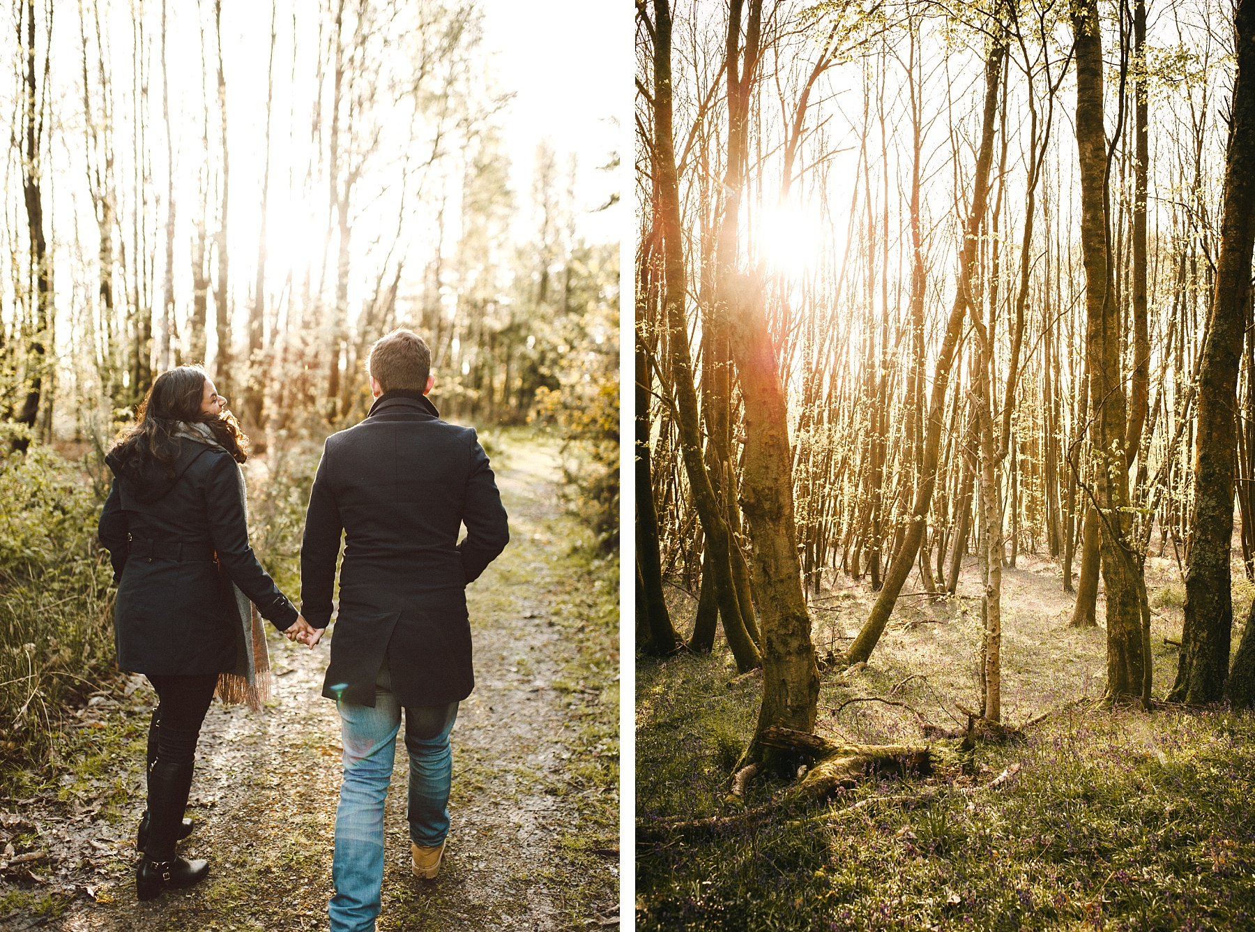 Photo by couple walking towards west sussex wedding venue